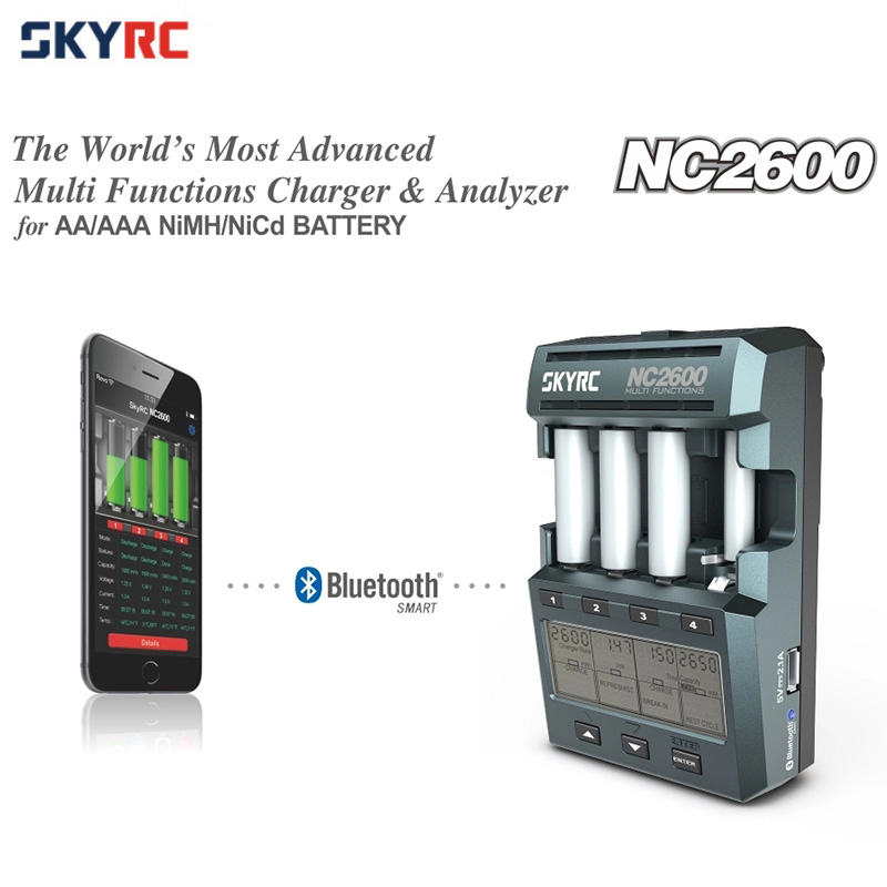Original SKYRC NC2600 Charger Discharger Analyzer with Bluetooth for AA AAA NiMH NiCd Battery