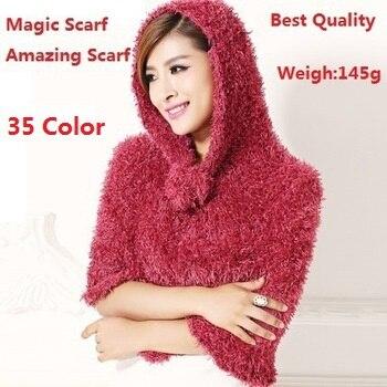 Vendita della fabbrica di Modo 35 di Colore DIY Multifunzionale Magica Sciarpa Incredibile Sciarpe Scialli Pashmina Sciarpe Per Le Donne/Signore Regali