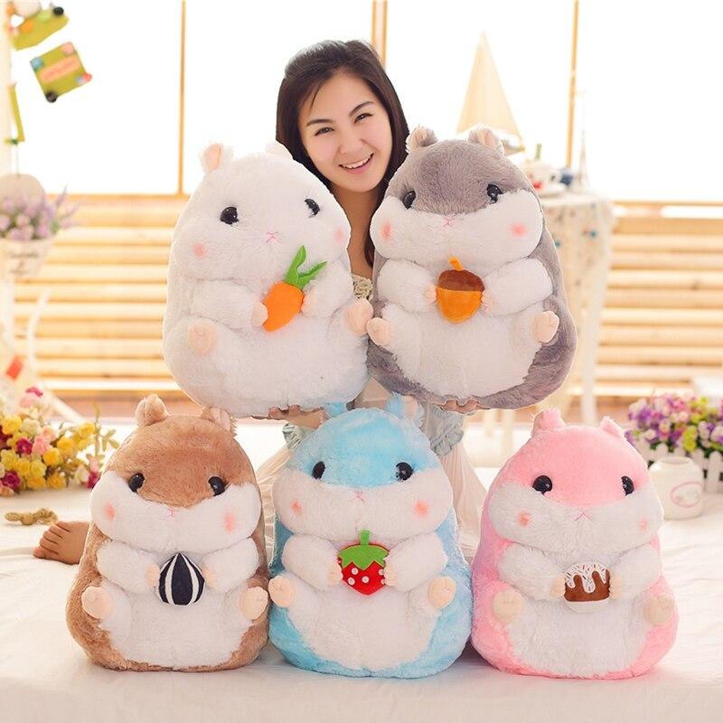 Hot 1pcs 28cm/38cm Lovely Hamster Stuffed Animal Dolls Plush Toys Simulation Hamster Large Toys For Children Girls Holiday Gift!