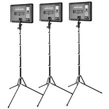 Godox LED Light Kit 3x LEDP-260C 3300-5600K Video Light + Light Stand + Roller Carry Bag