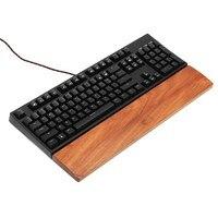 61 87 104 Keys Ergonomic Wooden Wrist Pad Mechanical Keyboard Wooden Wrist Rest Pad Support Arm