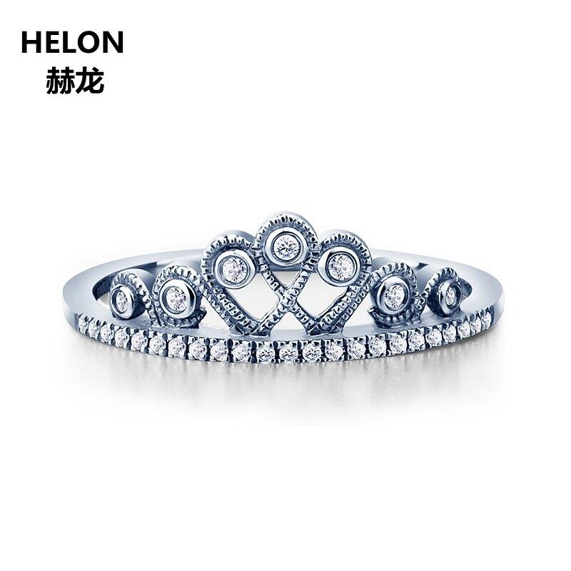 0.09ct Natural Diamonds Engagement Wedding Ring Solid 14k Rose Gold Women Crown Ring0.09ct Natural Diamonds Engagement Wedding Ring Solid 14k Rose Gold Women Crown Ring