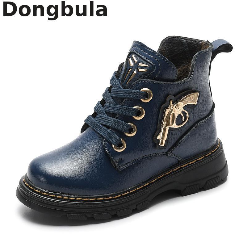Willensstark Kinder Schuhe Winter Neue Jungen Stiefel Kinder Echtem Leder Trend Martin Stiefel Plüsch Warme Fuß Knöchel Outdoor Sport Schuhe