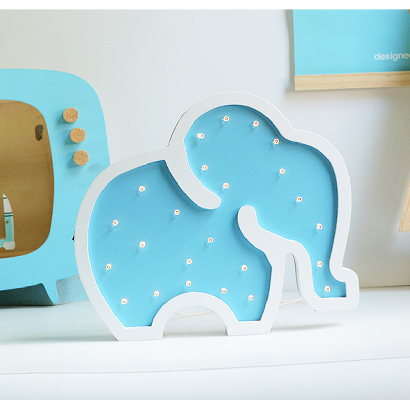 Fashion Wooden elephant LED Night Light Kids Gifts creative home decoration wall lights Bedroom Bedside Lamp luz noturna 80508