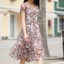 Summer new arrival 2016 fashion high quality full dress short-sleeve slim silk one-piece dress