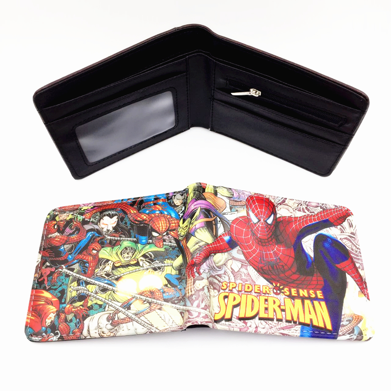 the super hero spiderman/BLEACH/dragon ball/eva/fate/ purse money Rick and Morty wallet zipper dollar price chris wormell george and the dragon