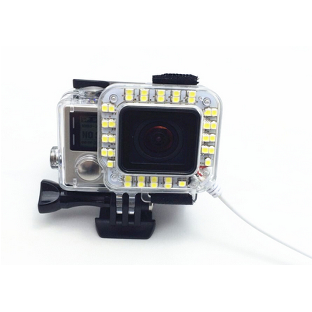 LED Fill Lens Ring Flash Light for GoPro Hero 4 3+ Housing Case Lamp For GoPro Session Action Camera Accessories
