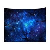 Wandbehang Tapisserie Wald Starry Night Sky Galaxy Hause Dekoration Wandteppich Für Wohnzimmer Schlafzimmer Wohnheim|Dekorative Wandteppiche|   -