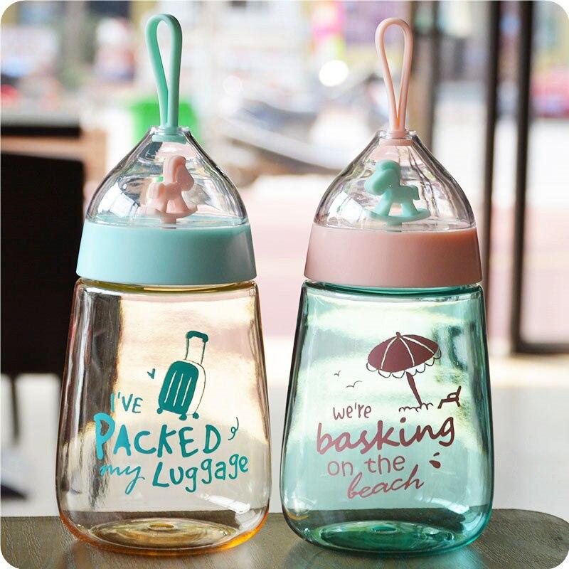 400ml Creative Cute Bird or House Cartoon Design Water Bottles Portable Camping Sport For Kids Gift Drinkware