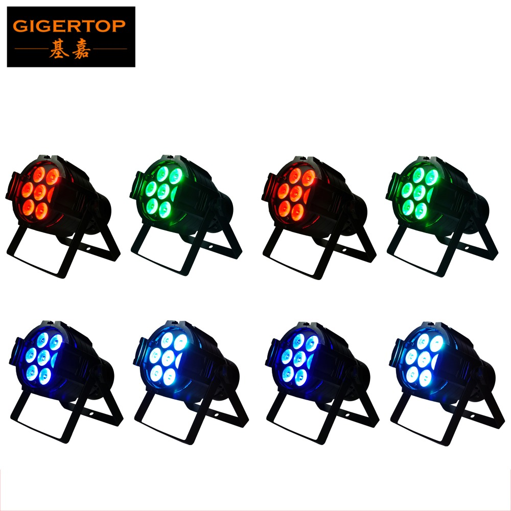 Free Shipping 8pcs/lot 7x10W 4IN1 Led Par Light RGBW Aluminum Case DMX 512 Stage Lighting 7 Channels Flat Led Par Can AC90V-240V free shipping 8pcs lot casting aluminum case led flat par 18x10w 4in1 rgbw led par can light stage dj light