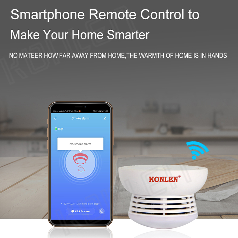 Image 5 - Tuya WIFI Smoke Detector Fire Protection Alarm Sensor Independent Wireless Battery Operated Smart Life Push Alert Home Security-in Smoke Detector from Security & Protection