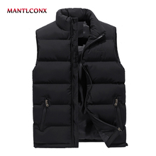 Thicken Vest Coats Padded Warm Male Men's Winter Casual MANTLCONX 5XL 6XL Jacket