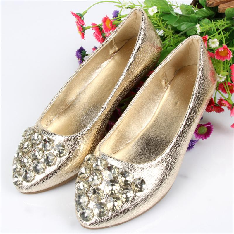 Women Crystal Flats Slip On Casual Shoes 2017 Summer Fashion New Comfortable Pointed Toe Flat Shoes Woman Loafers Plus Size spring summer women flat ol party shoes pointed toe slip on flats ladies loafer shoes comfortable single casual flats size 34 41