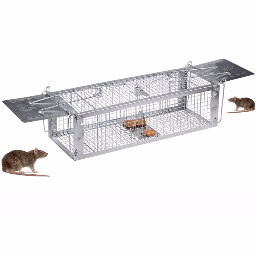 2-opening Rat Trap Heavy Duty Mouse Pest Animal Mice Hamster Cage Control Bait Rodent Repeller Catch MouseHamster Mouse Trap image
