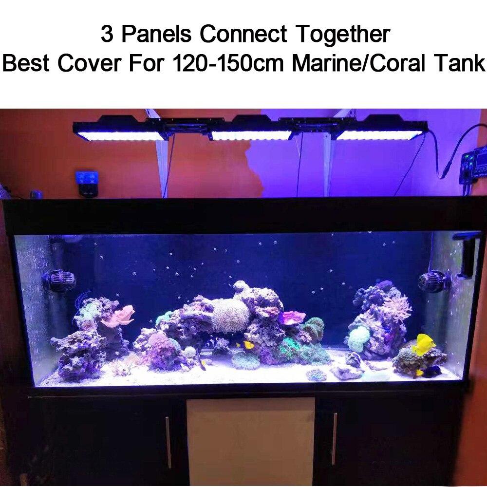 Us 29852 32 Offpopbloom Oświetlenie Diodowe Do Akwarium Rafy Koralowej Akwarium Morskie Lampa Led Pełne Spektrum Wschód Fish Tank światła Akvaryum