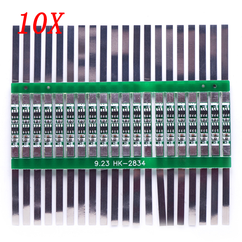 10pcs 3.7V 3A Li-ion Lithium Battery 18650 Charger Over Charge Protection Board With Solder Belt #246061 7s cells 4 2v 20a balancing li ion lithium 18650 battery protection board for rc toys models