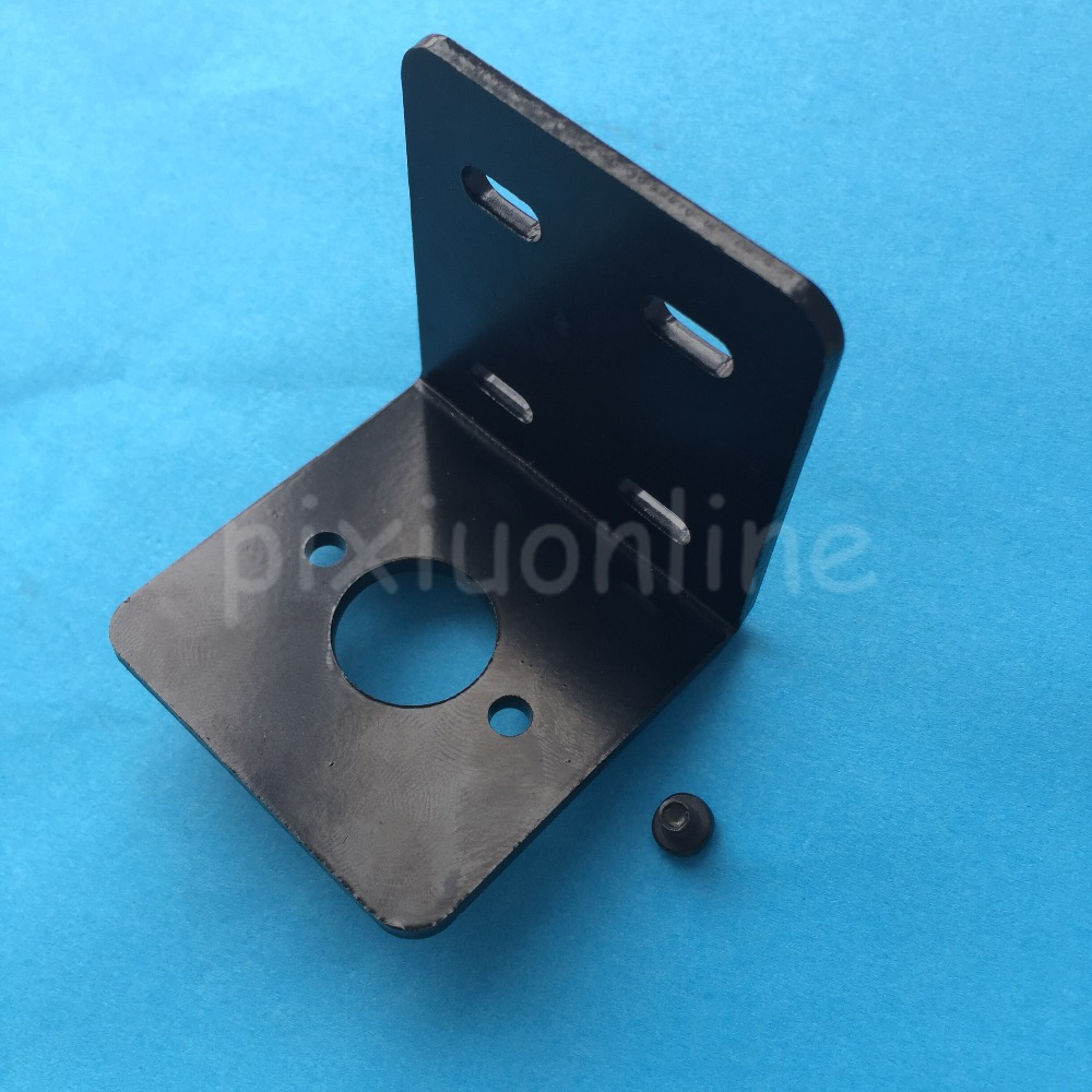 1suit J284Y L-shaped High Hardness 775 DC Motor Base Fixed Support with 2 Screws All Metal Holder fixed support l
