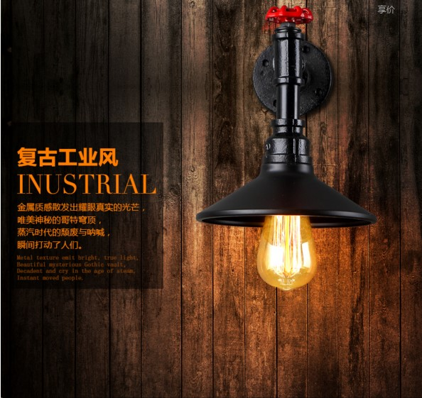 America Rustic Vintage Pipe Wall Lamp In Loft Industrial Style Stair light Edison Wall Sconce Arandela Lampara Aplik