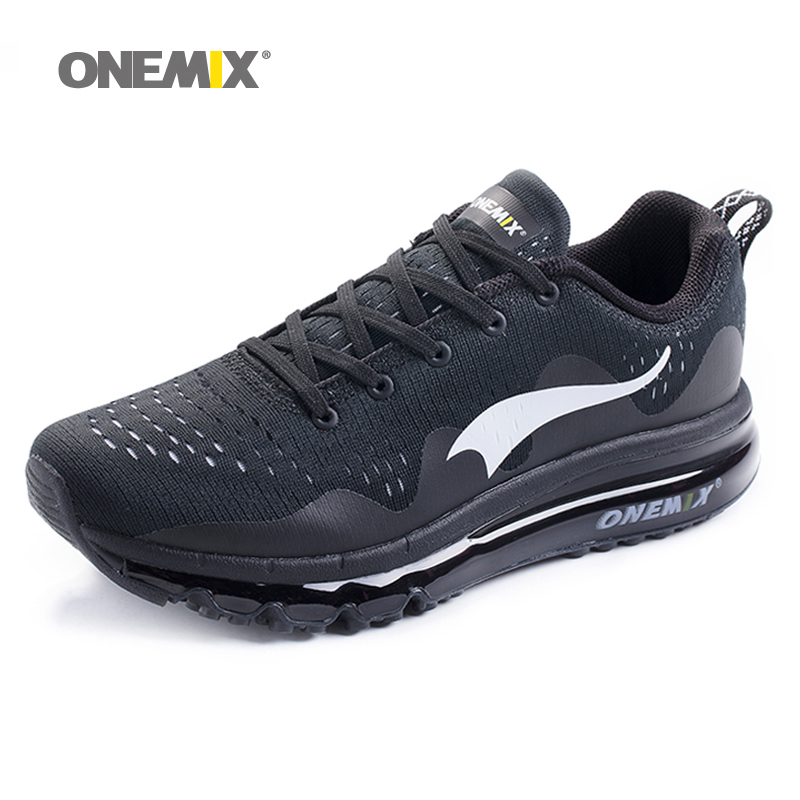 New onemix Air Men's Sports Running Shoes cushioning breathable Massage Sneakers for men sport shoes 2017 male athletic outdoor 2017 new style running shoes man cushioning breathable cool textile sneakers red black men light sports shoes