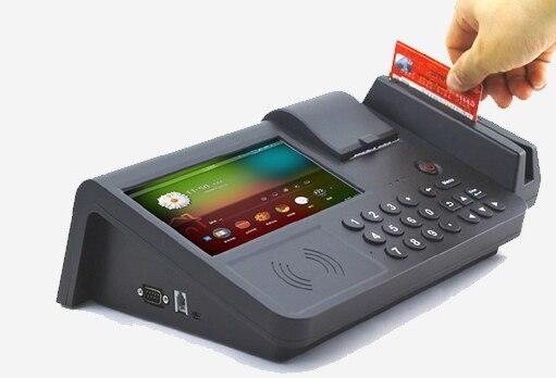 Système de point de vente au détail Andorid tablette de Terminal de paiement avec NFC MSR lecteur d'empreintes digitales lecteur de carte de crédit IC intégré