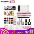 BURANO Acryl Poeder & Glitter Brush Nail Tips Buffer Sticker Bestand UV Gel Kit Nail Gereedschap power 2907