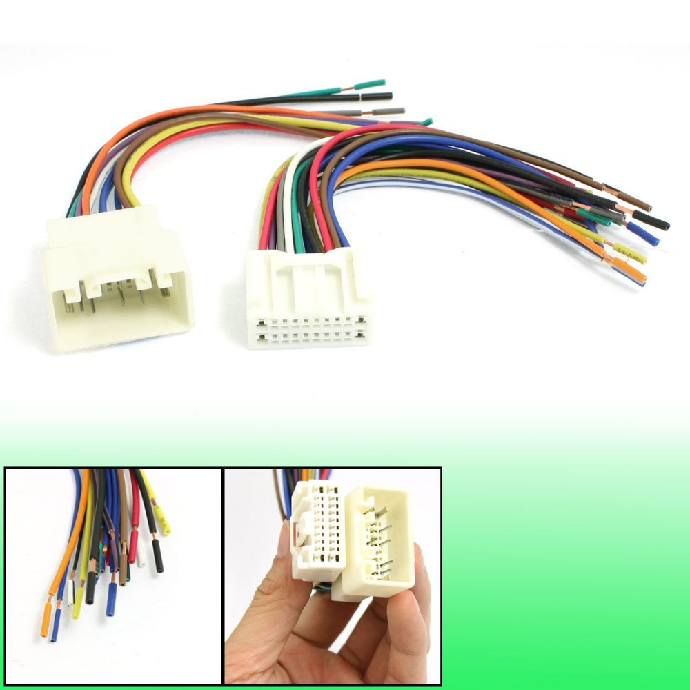 hight resolution of us 14 89 car dvd navigation connector wire harness set for toyota crown in cables
