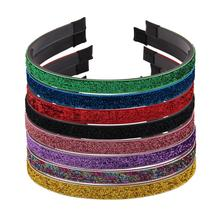 New Solid Satin Covered Hairbands for Women Girls Plastic Headbands Handmade Kids Candy Color Hair Accessories