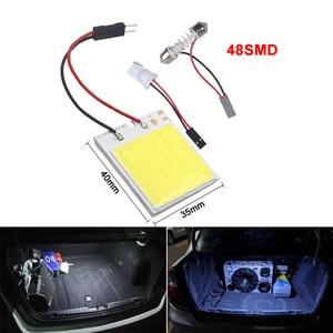 Image 4 - 2x Car C5W LED COB Bulb Fstoon Interior Dome Reading Light T10 W5W Auto Luggage Trunk License Plate Lamp Super Bright Whit 12V
