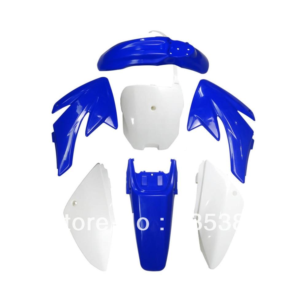 Мотоцикл Байк тела Пластиковые крыло для 70 CRF70 crf с 4+3 Голуб+Бел