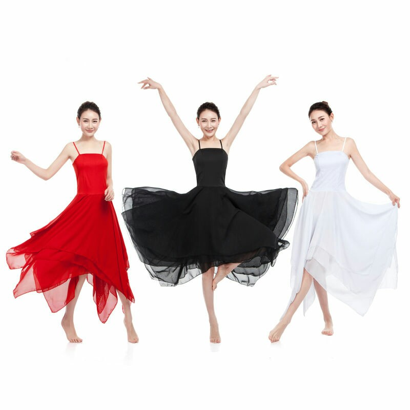 New Elegant Lyrical Modern Dance Costumes for Women Ballet Dress Adult Contemporary Dance dresses Practice Clothing