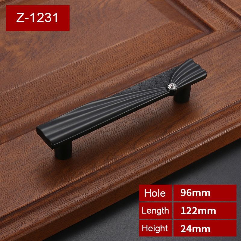 European style Zinc Alloy Flash drilling Kitchen Drawer Wardrobe Pull golden Handles  With Screw  Furniture Hardware   Z-1231 2018 new wholesale diy copper metal accessories gold rivet with screw furniture hardware grt 10