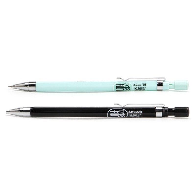 2 мм 2B привести Держатель автоматический механический карандаш черный приводит для Draughting чертеж чертежа эскиз карандаш