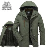 Loose Winter Snow Hooded Men Jackets Plus Size 6XL New 2016 Brand AFS JEEP Original Warm