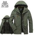 Solta Homens da Neve do Inverno Com Capuz Jaquetas Plus Size 6XL Novo 2016 Marca AFS JEEP Original Quente Grossa de Lã Blusão Casuais casacos