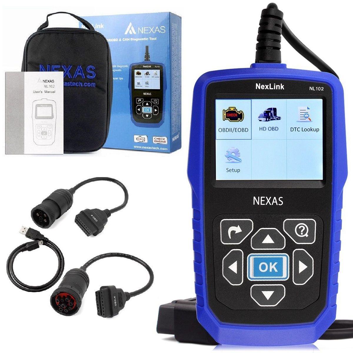 NEXAS NL102 автомобиль код читателя Поддержка полный OBDII Старт Creader грузовик и автомобиль OBD2 диагностики HD товара читателя дизель сканер