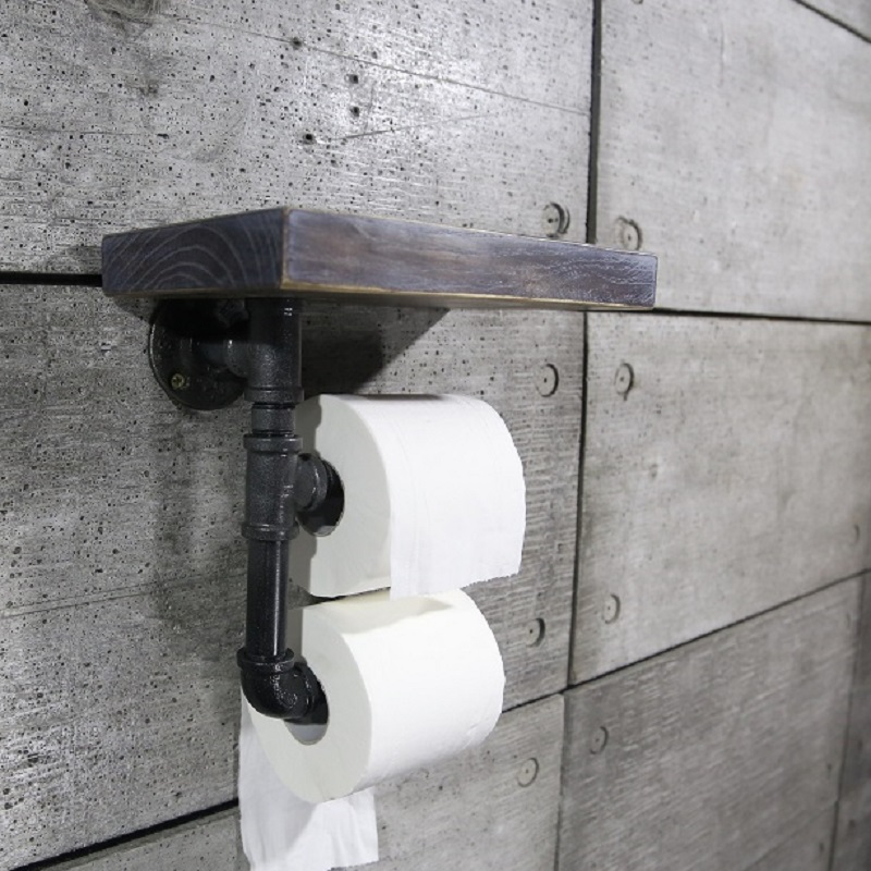 1PC paper holder Urban Style Iron Pipe Reclaimed Wood Toilet Roll Holder  Bathroom Shelves Towel Rrack - Online Get Cheap Reclaimed Wood -Aliexpress.com Alibaba Group