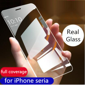 Image 1 - 9H Screen Protector Voor Apple Iphone 8 7 6 S Plus 11 Pro Xs Max Xr Gebogen Gehard Glas screen Protector Clear Full Cover Film