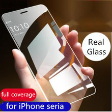9H screen protector for apple iPhone 8 7 6 S Plus 11 Pro XS Max XR curved tempered glass screen protector clear full cover film(China)
