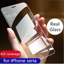 Protecteur décran 9H pour apple iPhone 8 7 6 S Plus 11 Pro XS Max XR protecteur décran en verre trempé incurvé film de couverture complet transparent