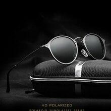 Veithdia год сбора винограда способа унисекс авиационного алюминия круглый поляризованные солнцезащитные очки мужчины женщины марка дизайнер солнцезащитные очки очки 6358