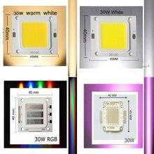 Светодиодный чип высокой мощности УФ/RGB теплый белый для DIY 30 Вт Холодный белый оптом прожектор люстра из бисера лампа