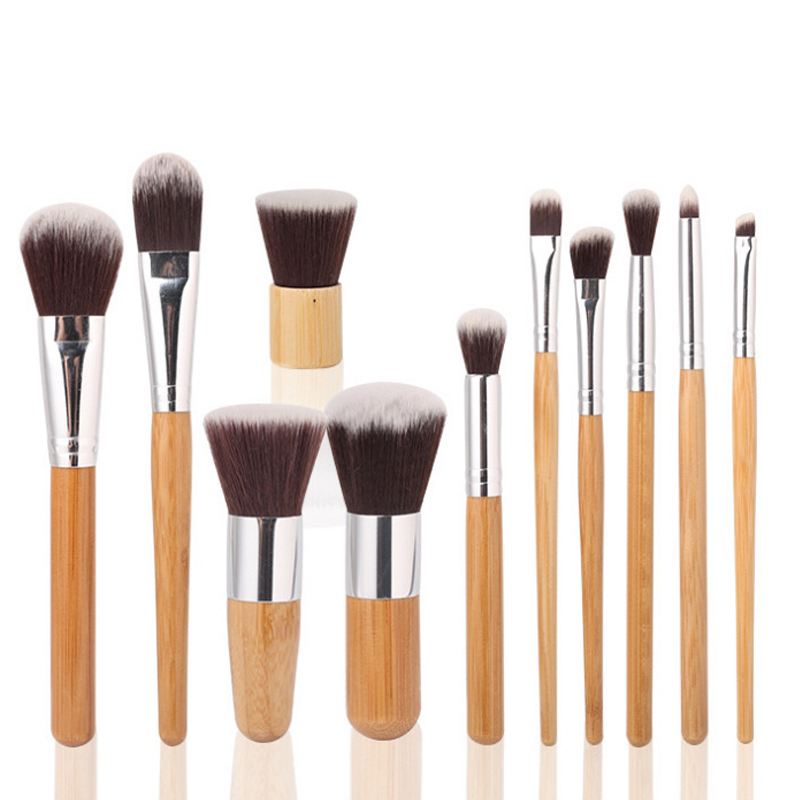 Wholesale High Quality 11Pcs/set Makeup Brushes Kit Sets For Eyeshadow Face Blusher Cosmetic Brushes Tool Free Shipping by dhl or ems 100pcs tgf brand new makeup brushes 12 pcs brush kit sets for eyeshadow blusher cosmetic brushes tool