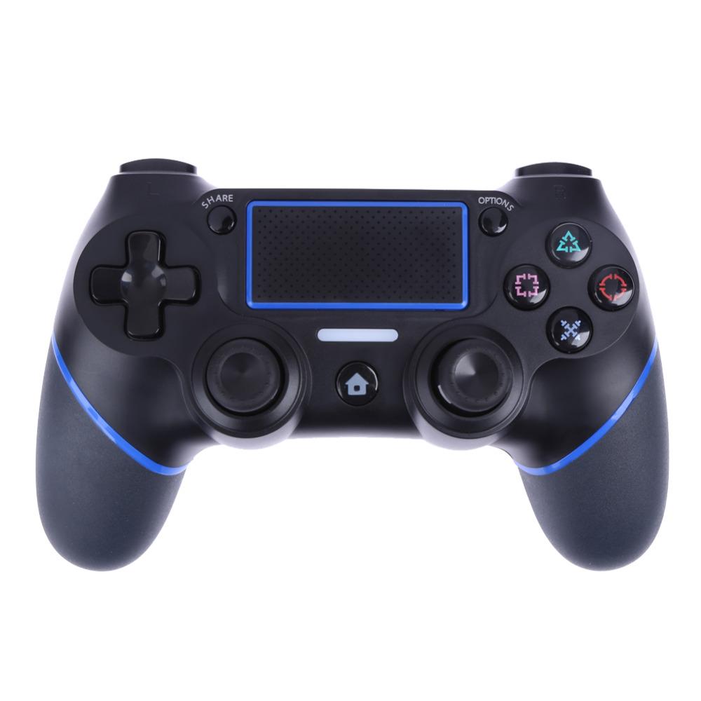 Prix pour Haute Qualité Sans Fil Contrôleur de Jeu Bluetooth Gaming Joystick Jeu Pad Poignée Grip pour PlayStation 4 PS4 Console