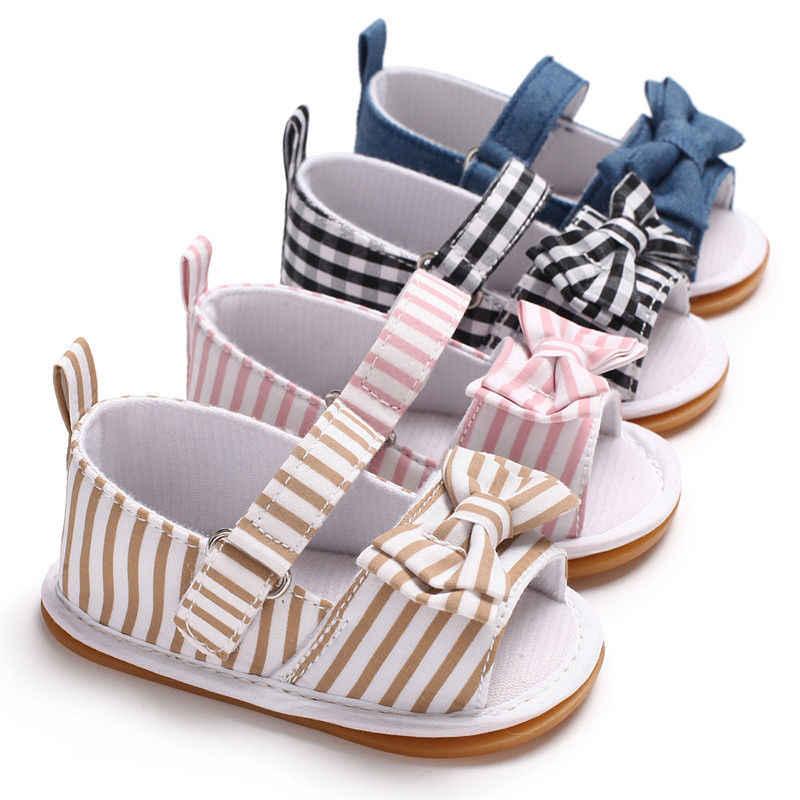 2018 Gloednieuwe Baby Pasgeboren Peuter Baby Baby Meisjes Zachte Strik Zool antislip Crib Zomer Sandalen Schoenen Leuke Baby Schoenen