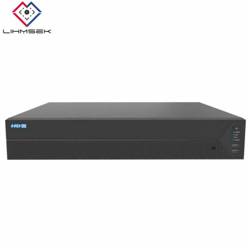 Lihmsek alta gama 64ch 128 canales red Video Recorder H264 CCTV 4K NVR Onvif con doble puerto HDMI n 1000M interfaz de red