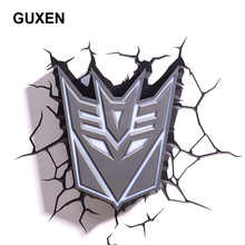 GuxenTransformer Autobots Decepticons 3D Creative Mood Lamp Color Change Night Light Child Kids Bedroom Deco Boys Xmas Gifts - DISCOUNT ITEM  50% OFF Lights & Lighting