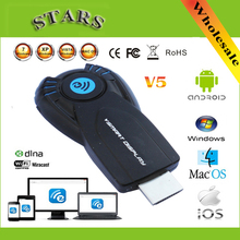 Cromo fundido elenco ez vsmart v5ii ezcast miracast pantalla inalámbrica dongle dlna airplay hdmi 1080 p tv stick para IOS de windows android