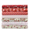 7pcs Red Series Small Flower Water Jade Cotton Fabric For Patchwork Sewing Tilda Doll Cloth Telas