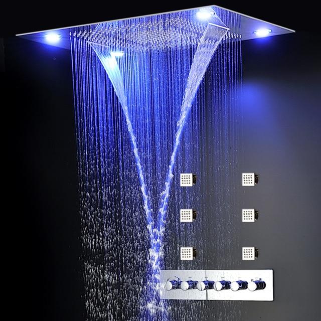 Aliexpress.com : Buy Luxury Concealed Shower Set LED Color ...
