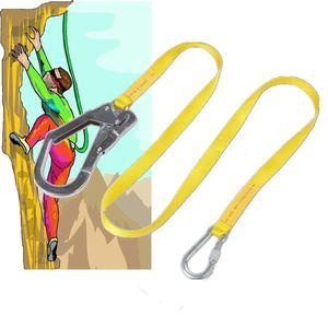 Image 3 - בטיחות שרוך, חיצוני טיפוס לרתום חגורת שרוך סתיו הגנת חבל עם גדול הצמד ווים, Carabineer